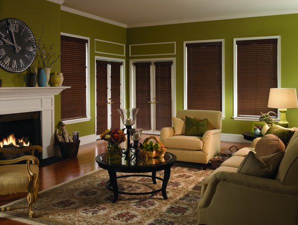 "B2d 2-1/2"" Fauxwood Custom Blinds"