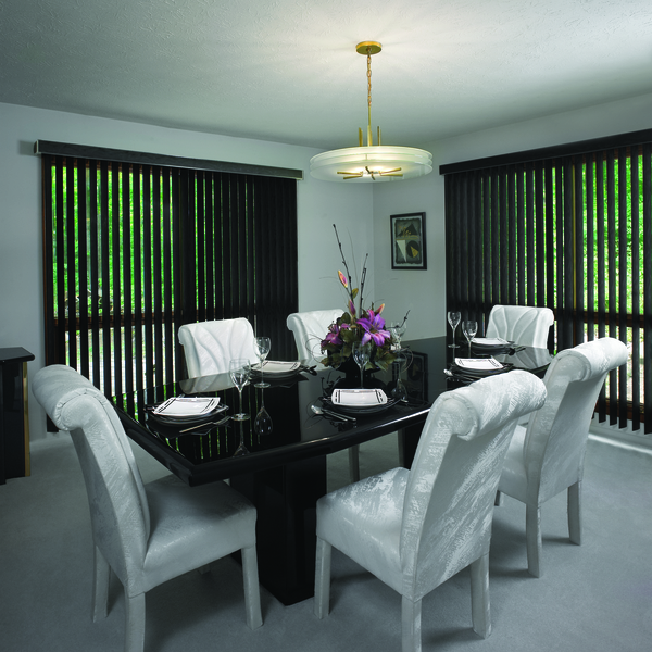 B2d Faux Wood Vertical Blinds